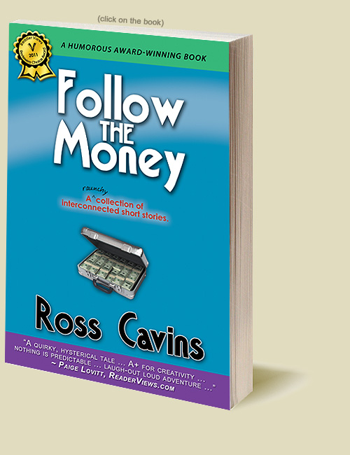 Follow The Money, a humorous book that could have been written by Elmore Leonard if he were on crack.